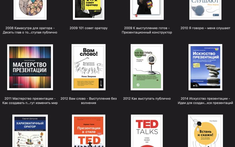 Книги по публичным выступлениям