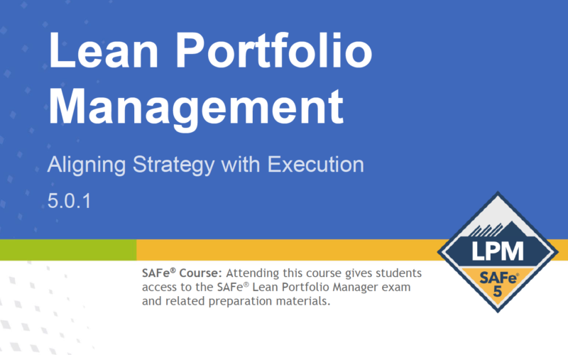 SAFe Lean Portfolio Management 5-0-1